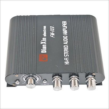 fm-103 amplificator audio stereo auto cu funcția fm-negru