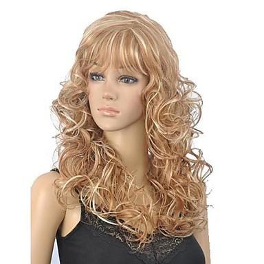 Черный парик Парики для женщин Кудрявый Карнавальные парики Косплей парики