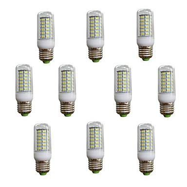 7W E26/E27 LED лампы типа Корн T 56 SMD 5730 600 lm Тёплый белый / Холодный белый AC 220-240 V 10 шт.