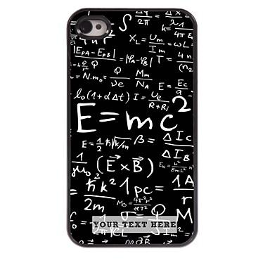 cazul în care telefonul personalizate - cu formula carcasa de metal de design pentru iPhone 4 / 4s
