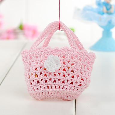 Baby Shower Party Favors & Gifts-6Stuk/Set Bedank Tassen Katoen Rechthoekig Niet-gepersonaliseerd Roze
