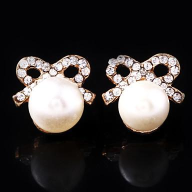 Kadın's İmitasyon İnci Yapay Elmas alaşım Düzensiz Mücevher