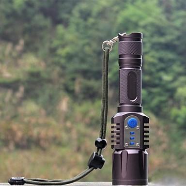 Светодиодные фонари Светодиодная лампа 1198 lm 5 Режим с батареей Ударопрочный Нескользящий захват Перезаряжаемый Водонепроницаемый