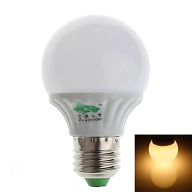 3W E26/E27 Bulb LED Glob G60 10 SMD 2835 280-300 lm Alb Cald Decorativ AC 100-240 V