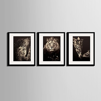 Çerçeveli Tuval Çerçeve Seti Çiçek/Botanik Duvar Sanatı, PVC Malzeme Frame ile Ev dekorasyonu çerçeve Sanat Oturma Odası Yatakodası