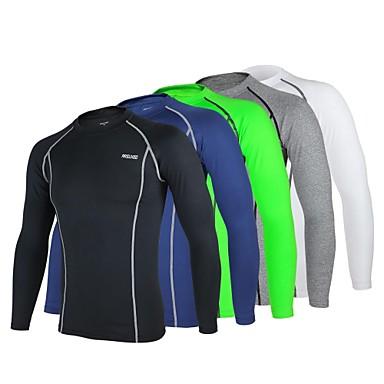 Arsuxeo Homens Manga Longa Camisa para Ciclismo - Azul Marinho Cinzento  Claro Verde Claro Moto Camada 19e9b9fa17037