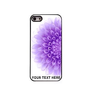 персонализированные телефон случае - половина фиолетовый цветок случае металлическая конструкция для iPhone 5/5 секунд