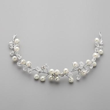 Women's Flower Girl's Alloy Imitation Pearl Cubic Zirconia Headpiece-Wedding Headbands Flowers