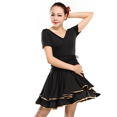 latin dance wear jurken dames elastische geweven satijnen elegante klassieke jurk