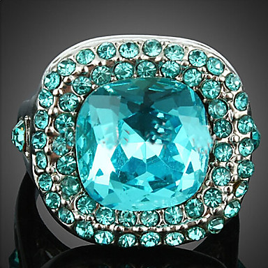 Women's Crystal Statement Ring - Cubic Zirconia, Alloy Fashion One Size Screen Color For Party