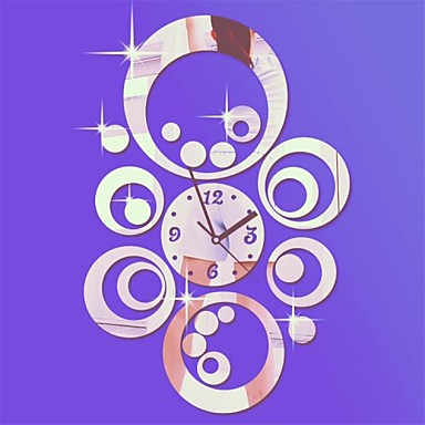 Modern/Contemporary Acrylic Novelty Indoor,AA Wall Clock
