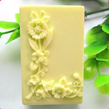 Kare aşıklar l şeklinde çiçek fondan kek çikolata silikon kalıp kek dekorasyon araçları, l6.7cm * w4.9cm * h3.2cm