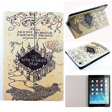 ipad mini / Mini 2 için stand ile Çapulcu Haritası Harry Potter film serisi desen pu deri tam vücut dava