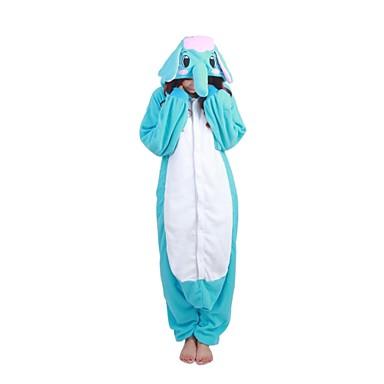 Kigurumi Pyjama  Olifant Gympak/Onesie Festival/Feestdagen Dieren nachtkleding Halloween Patchwork Fleece Kigurumi Voor Unisex Halloween