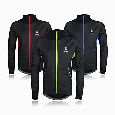 WOLFBIKE Jachetă Cycling Pentru bărbați Bicicletă Jachete de Lână Jerseu TopuriKeep Warm Rezistent la Vânt Căptușeală Din Lână