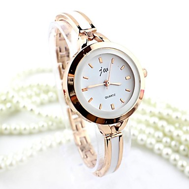 cheap Quartz Watches-Women's Bracelet Watch Gold Watch Quartz Silver / Gold Imitation Diamond Analog Ladies Bangle Fashion - Silver Golden