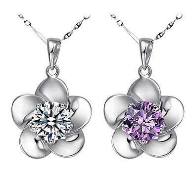 Damen Sterling Silber / Silber Schmuck-Set Ohrringe / Halsketten - Weiß / Purpur Für Hochzeit / Party / Besondere Anlässe