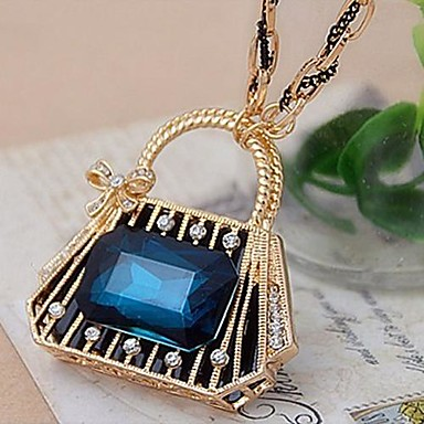 женская синий кристалл высококлассные кошелек счастье цепи длинный свитер