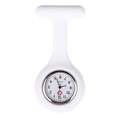 baratos Relógios Senhora-Mulheres Enfermeira Relógios Quartzo Silicone Preta / Branco / Azul Relógio Casual Analógico senhoras Doce - Vermelho Rosa claro Azul Claro Um ano Ciclo de Vida da Bateria
