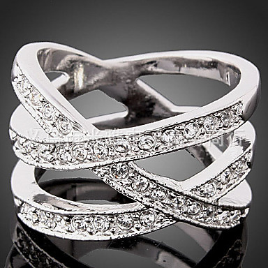 Women's Statement Ring Luxury Fashion Cubic Zirconia Imitation Diamond Alloy Costume Jewelry Party