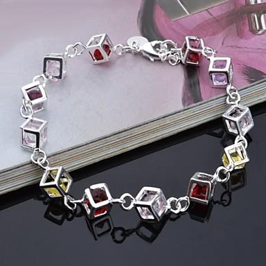 моды личности серебристый бриллиантовый браслет женский