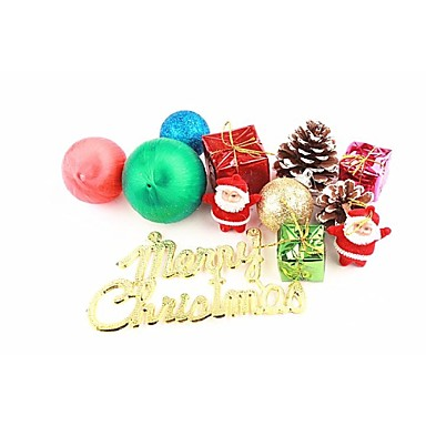 Weihnachtsdeko weihnachtsbaum Schmuck Spielzeuge Niedlich Kunststoff 12 Stücke