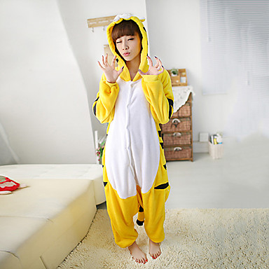 Kigurumi Pajamas Tiger Leotard/Onesie Festival/Holiday Animal Sleepwear Halloween Patchwork Polar Fleece Kigurumi For Unisex Halloween