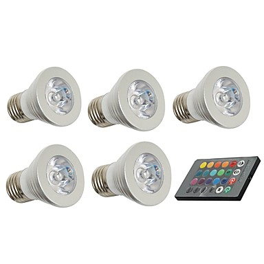 3W 150 lm E26/E27 LED Spot Işıkları 1 led Dekorotif Uzaktan Kumandalı AC 85-265V