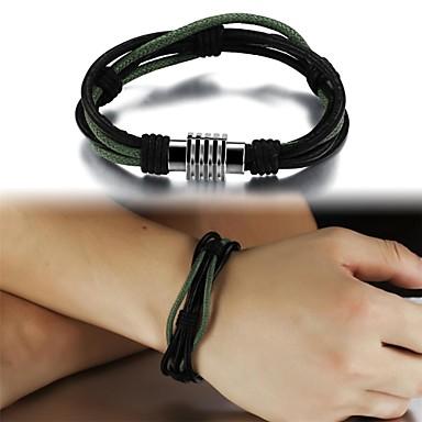Herrn Leder Lederarmbänder - Grün Armbänder Für Weihnachts Geschenke Hochzeit Party