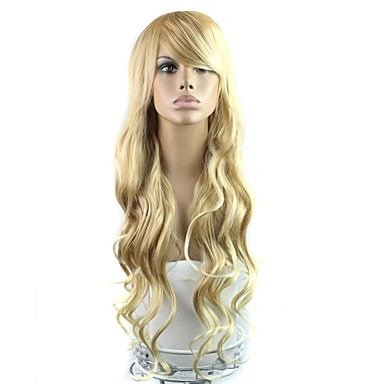 Synthetic Wig Classic High Quality Blonde Women's