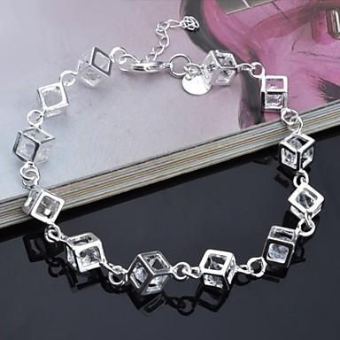 Kadın's Ayak bileziği Kübik Zirconia Yapay Elmas Eşsiz Tasarım Moda Gümüş Gökküşağı Mücevher 1pc