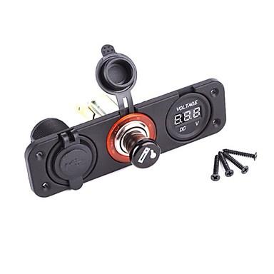 Iztoss Motorrad / Auto Zigarettenanzünder 2 USB Anschlüsse für 5 V