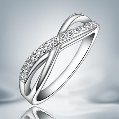 Classic Simple Silver Plated Alloy Statement Rings(1pc)