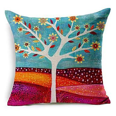 1 pcs Cotton/Linen Pillow Cover,Floral Modern/Contemporary
