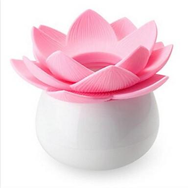 lotus şekli plastik kürdan kutusu rasgele renk tatil süsleri