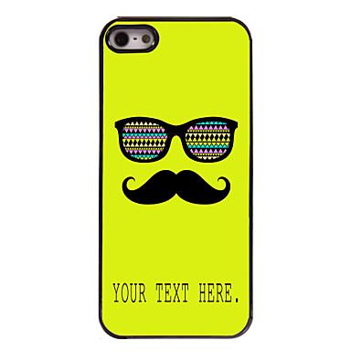 caz mustață și ochelari carcasa metalica design personalizat pentru iPhone 5 / 5s