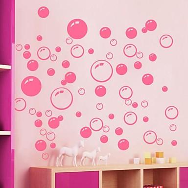 falimatrica fali matricák, aranyos színes pvc kivehető a szépség rózsaszín buborék falimatrica.