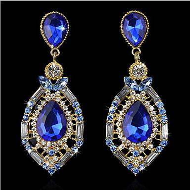 Damskie Kolczyki wiszące Modny biżuteria kostiumowa Kamień szlachetny Cyrkonia Kryształ górski Stop Kropla Biżuteria Na
