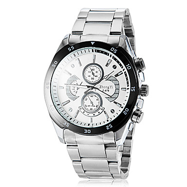 Men's Dress Watch Water Resistant / Water Proof Stainless Steel Band Silver