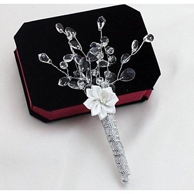 Wedding Flowers Bouquets Boutonnieres Others Artificial Flower Wedding Party / Evening Material Crystal Lace Satin 0-20cm