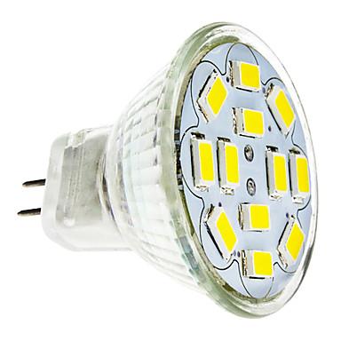 2 Вт. 240-260 lm GU4(MR11) Точечное LED освещение 12 светодиоды SMD 5730 Тёплый белый Холодный белый DC 12V