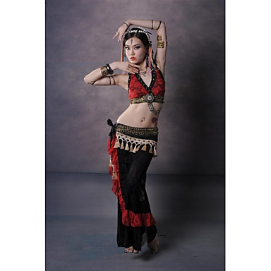 Belly Dance Outfits Women's Performance Cotton Lace Lace Pattern/Print Dropped