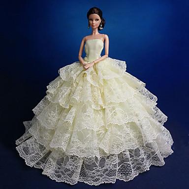 Party / Abends Kleider Für Barbie-Puppe Spitze / Organza Kleid Für Mädchen Puppe Spielzeug
