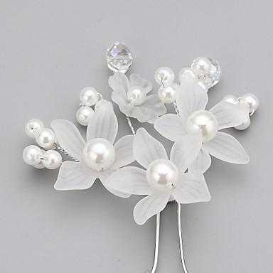abordables Bijoux de Cheveux-Cristal / Imitation de perle / Acrylique Diadèmes / Épingle à cheveux avec 1 Mariage / Occasion spéciale / Fête / Soirée Casque / Tissu / Alliage