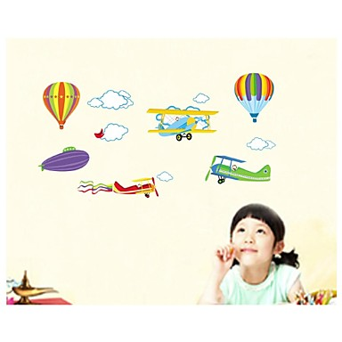Wall Stickers Wall Decals, Style Cartoon Air General Mobilization PVC Wall Stickers
