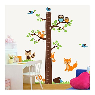 Wall Stickers Wall Decals, Style Squirrel Measure Your Hight PVC Wall Stickers