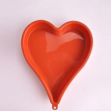 σχήμα καρδιάς καλούπια κέικ, σιλικόνης 26,5 × 21,5 × 3 εκατοστά (10,5 × 8,5 × 1,2 ιντσών)