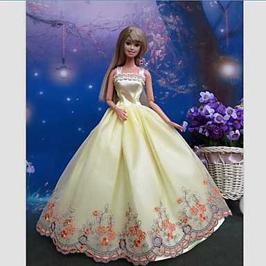 Party/Evening Dresses For Barbie Doll Lace Satin Dress For Girl's Doll Toy