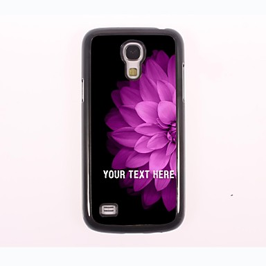 Personalized Phone Case - Half of The Pink Flower Design Metal Case for Samsung Galaxy S4