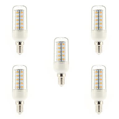 5 Stück 4W 400-500 lm E14 LED Glühlampen 36 Leds SMD 5730 Warmes Weiß Wechselstrom 220-240V